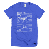 Curiosity Mars Rover t shirt Women's (Blue)