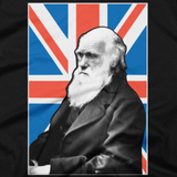 Charles Darwin shirt (Black) close-up