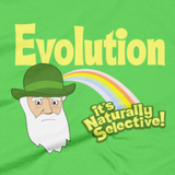 Evolution - it's Naturally Selective t shirt close-up