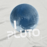 I Heart Pluto t shirt close-up