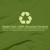 Recycled Stardust shirt close-up