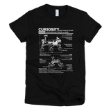 Curiosity Mars Rover t shirt Women's (Black)
