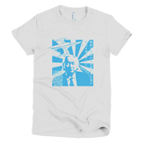 Michio Kaku shirt Women's (Blue print)