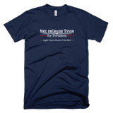 Neil deGrasse Tyson for President shirt (Navy)