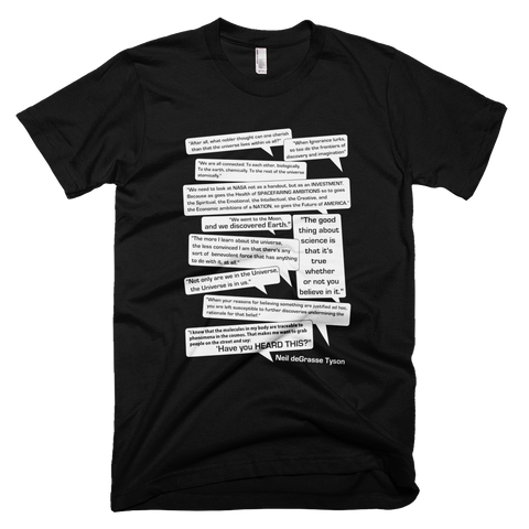 Neil deGrasse Tyson Quotes t shirt (Black)