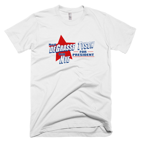 Neil deGrasse Tyson and Bill Nye for President shirt (White)