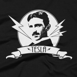 Tesla t shirt close-up