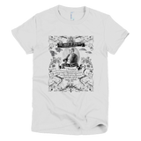 Charles Darwin Origin of Species t shirt Women's (White)