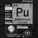 Plutonium t shirt close-up