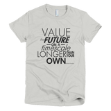 Richard Dawkins - Value the Future shirt women's (Silver)