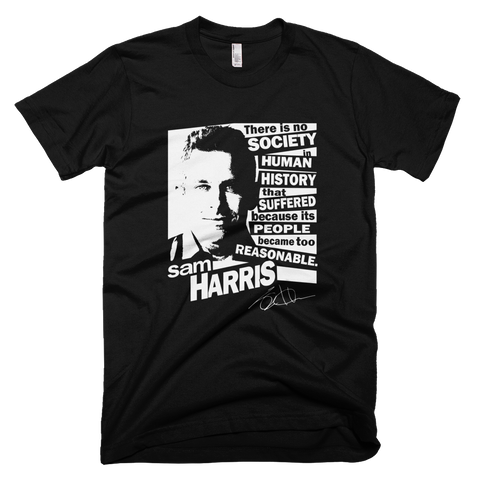 Sam Harris - Too Reasonable t shirt (Black)