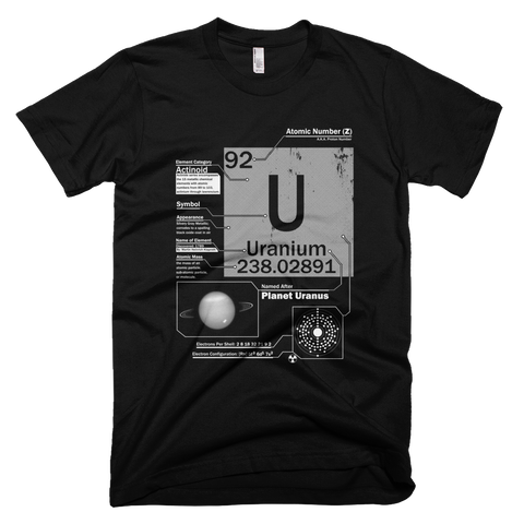 Uranium t shirt (Black)