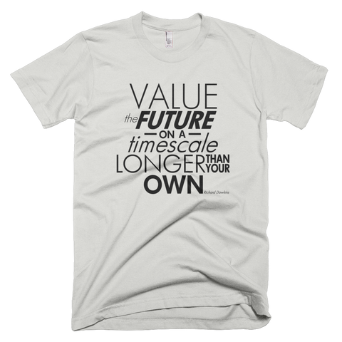 Richard Dawkins - Value the Future shirt (Silver)