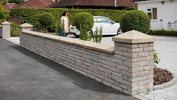 Marshalite Pitch Faced Garden Walling