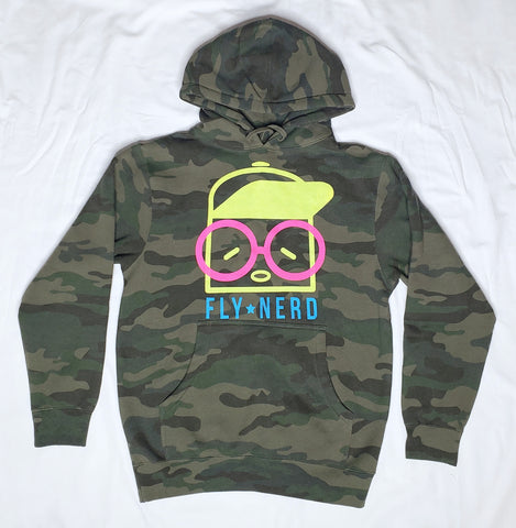 Fly Nerd The Original Hat Guy Camo Hoodie