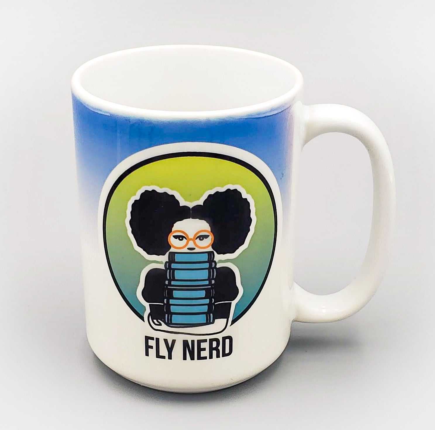 Fly Nerd Ceramic 15 oz Mug
