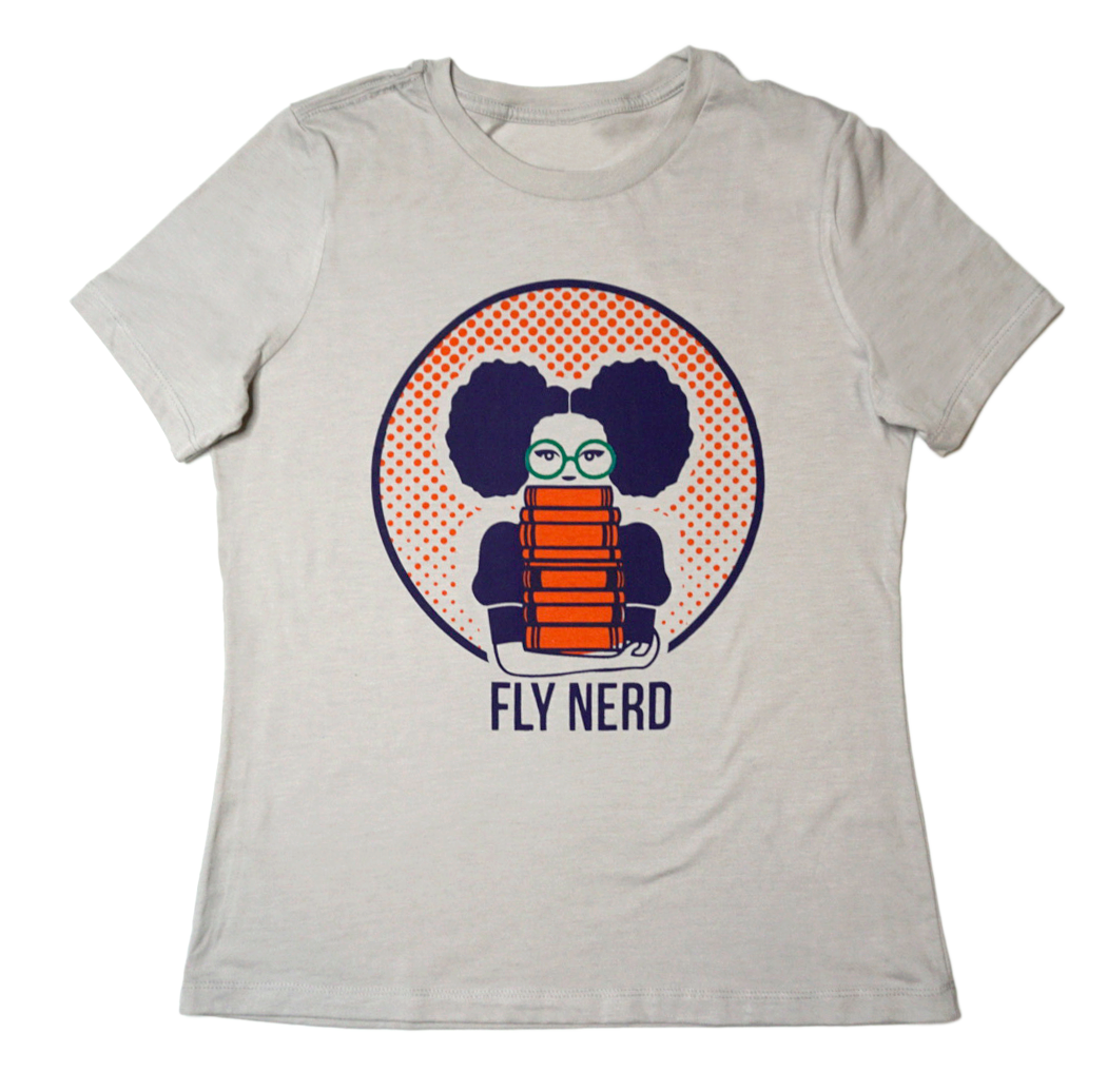 Fly Nerd Bookworm Ladies Relaxed Tee