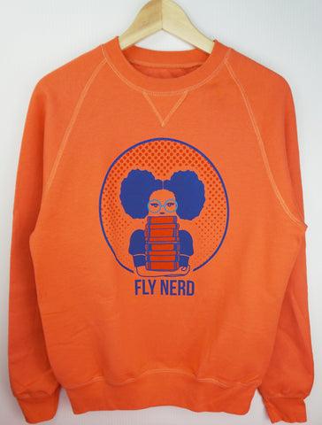 Fly Nerd Bookworm Sweatshirt