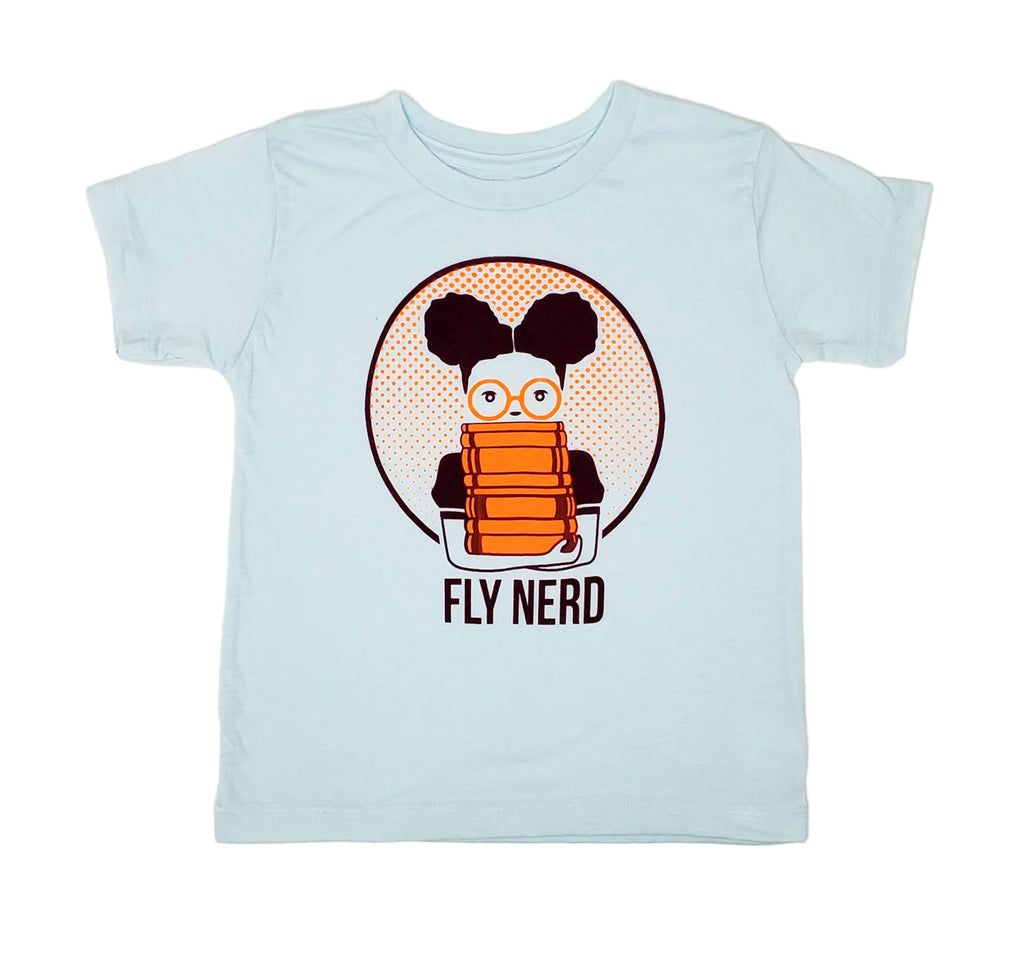 Fly Nerd Girls Bookworm Toddler Tee