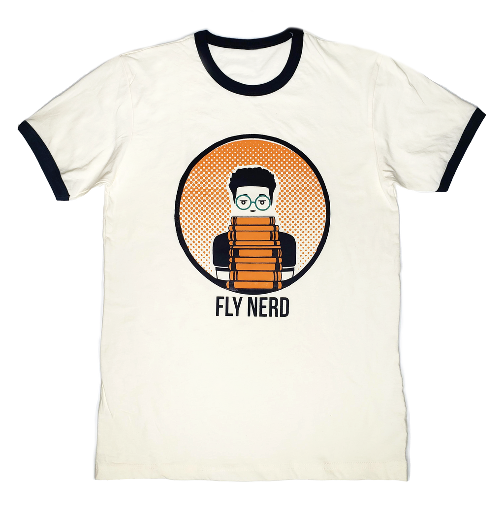 Fly Nerd Boy Bookworm Tee
