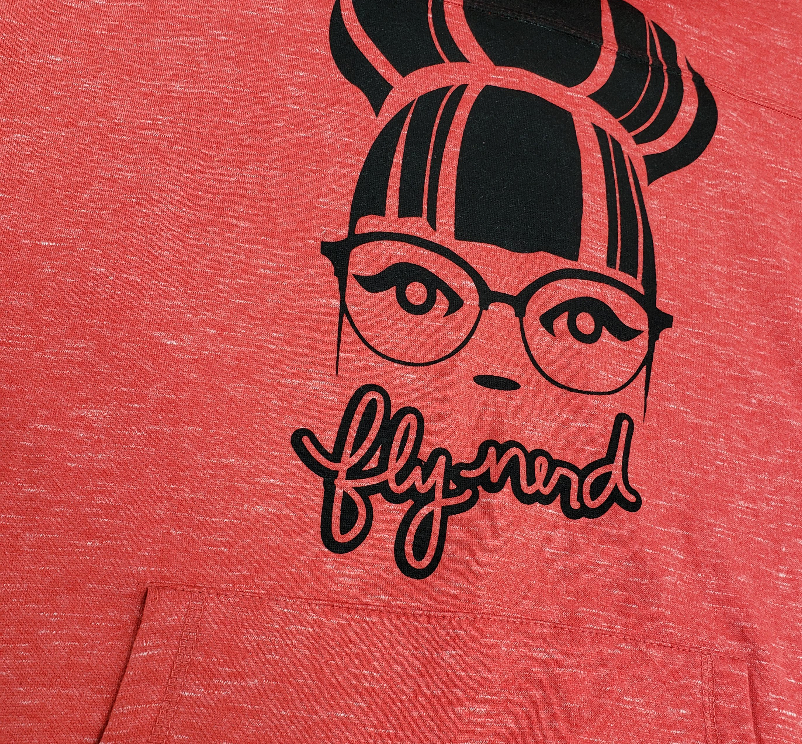 Fly Nerd Bun Girl Cowl Neck Pullover Sweatshirt