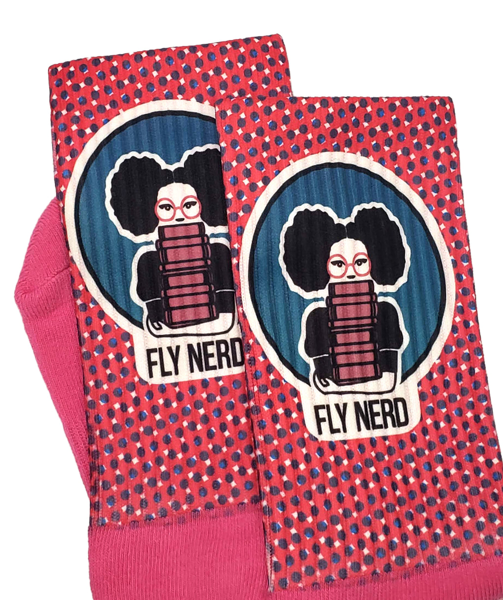 Fly Nerd Bookworm Socks