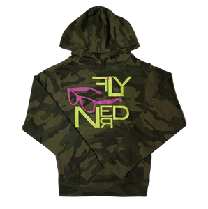 Fly Nerd Classic Camo Youth Hoodie