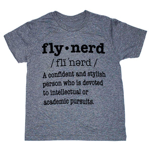 Fly Nerd Definition Kids Tee