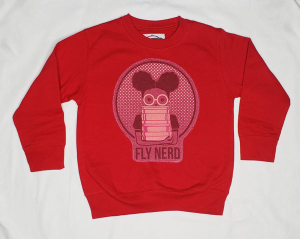 Fly Nerd Bookworm Patch Toddler Sweatshirt