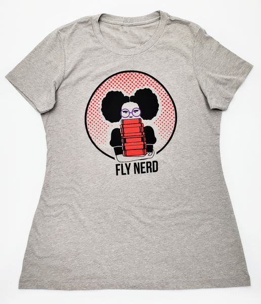 Fly Nerd Bookworm Ladies Tee