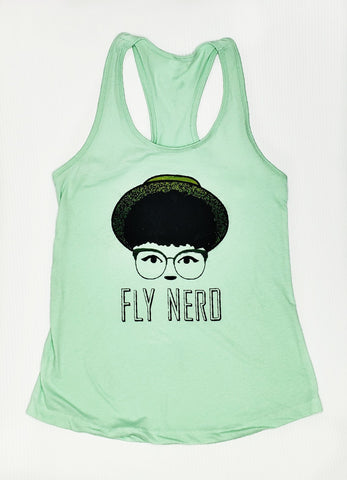 Fly Nerd Hipster Hat Tank