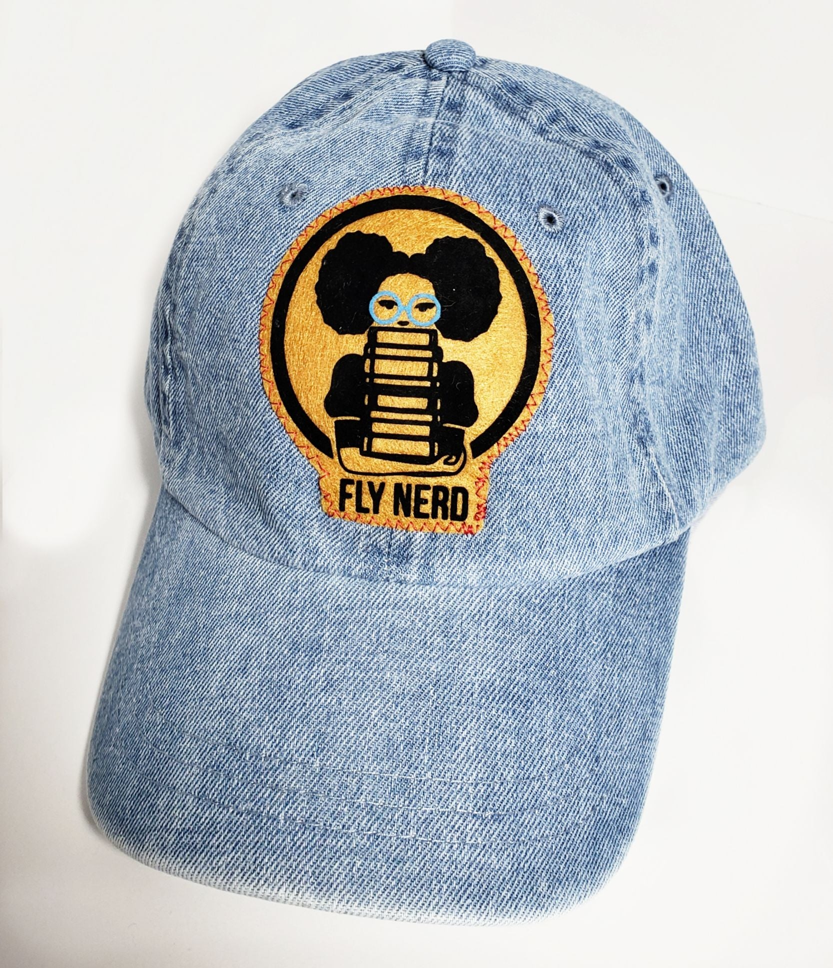 Fly Nerd Bookworm Light Denim Cap