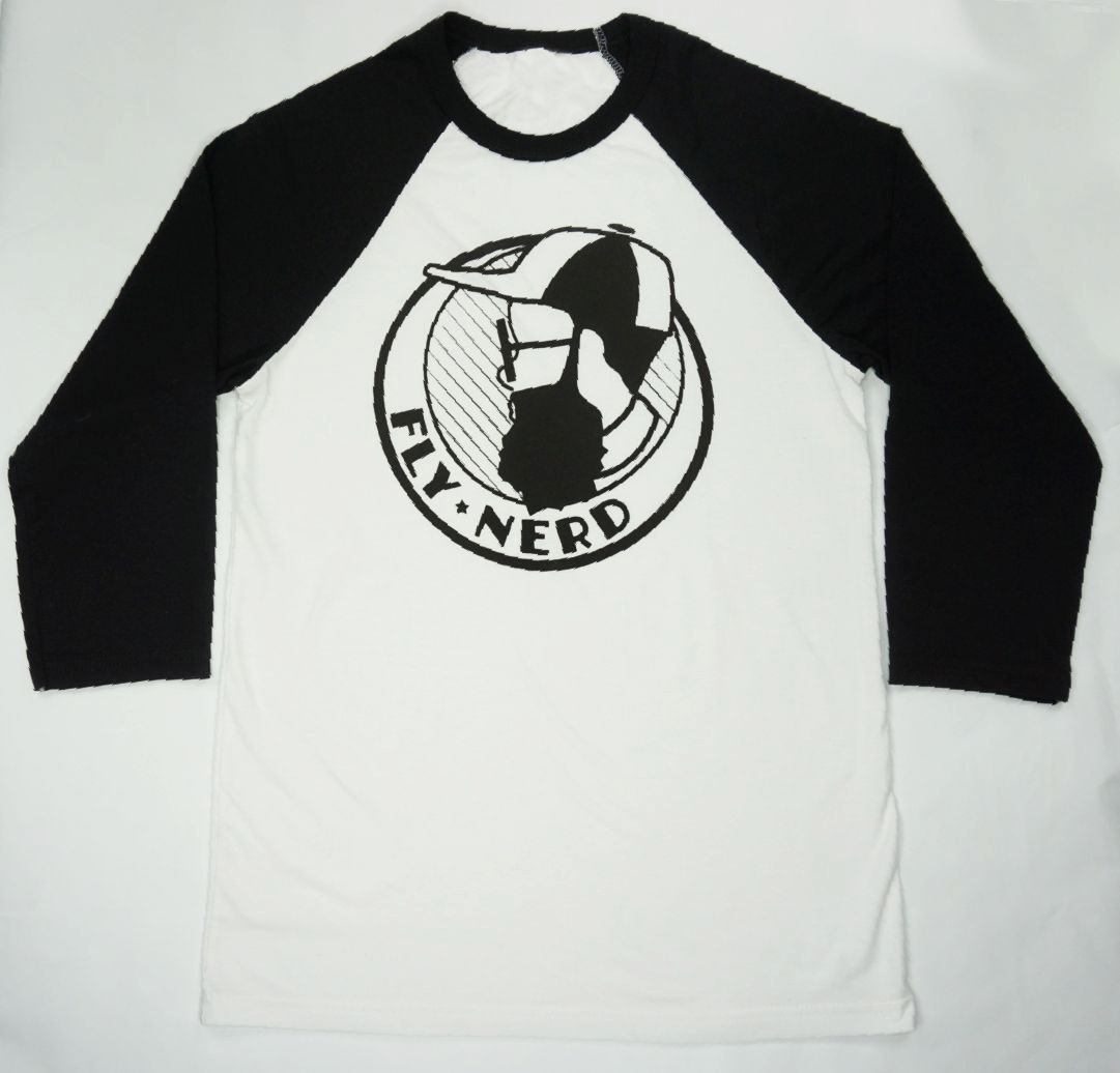Fly Nerd Bearded Baseball Tee
