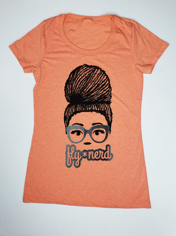 Fly Nerd Loc'd Ladies Tee