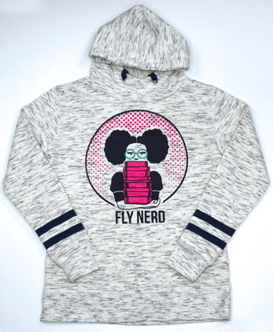 Fly Nerd Bookworm Ladies' Hooded Sweatshirt