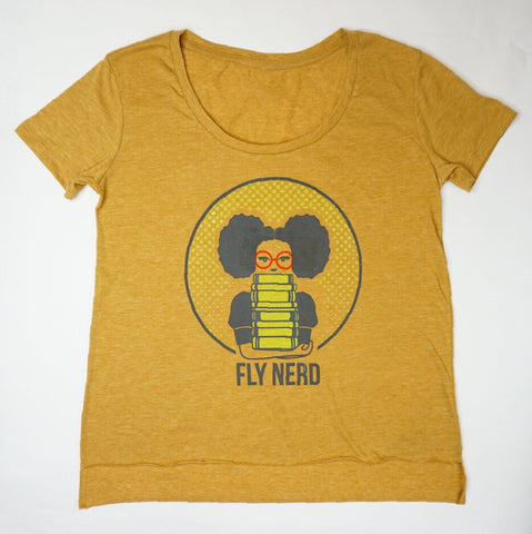 Fly Nerd Bookworm Ladies Festival Tee