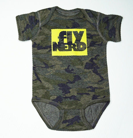 Fly Nerd Block Infant Baby Bodysuit