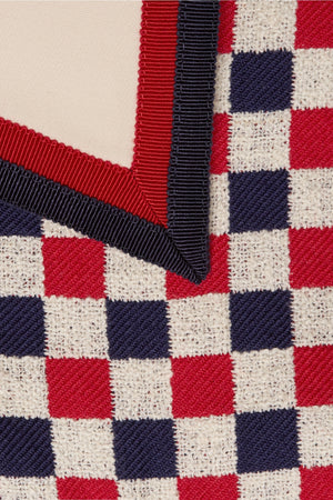Gucci Checked Grosgrain-Trimmed Wool-Blend Jacket