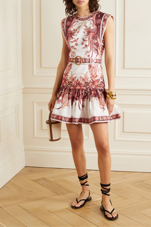 Zimmermann Wavelength Belted Fluted Mini Dress - Spring 2020 Collection