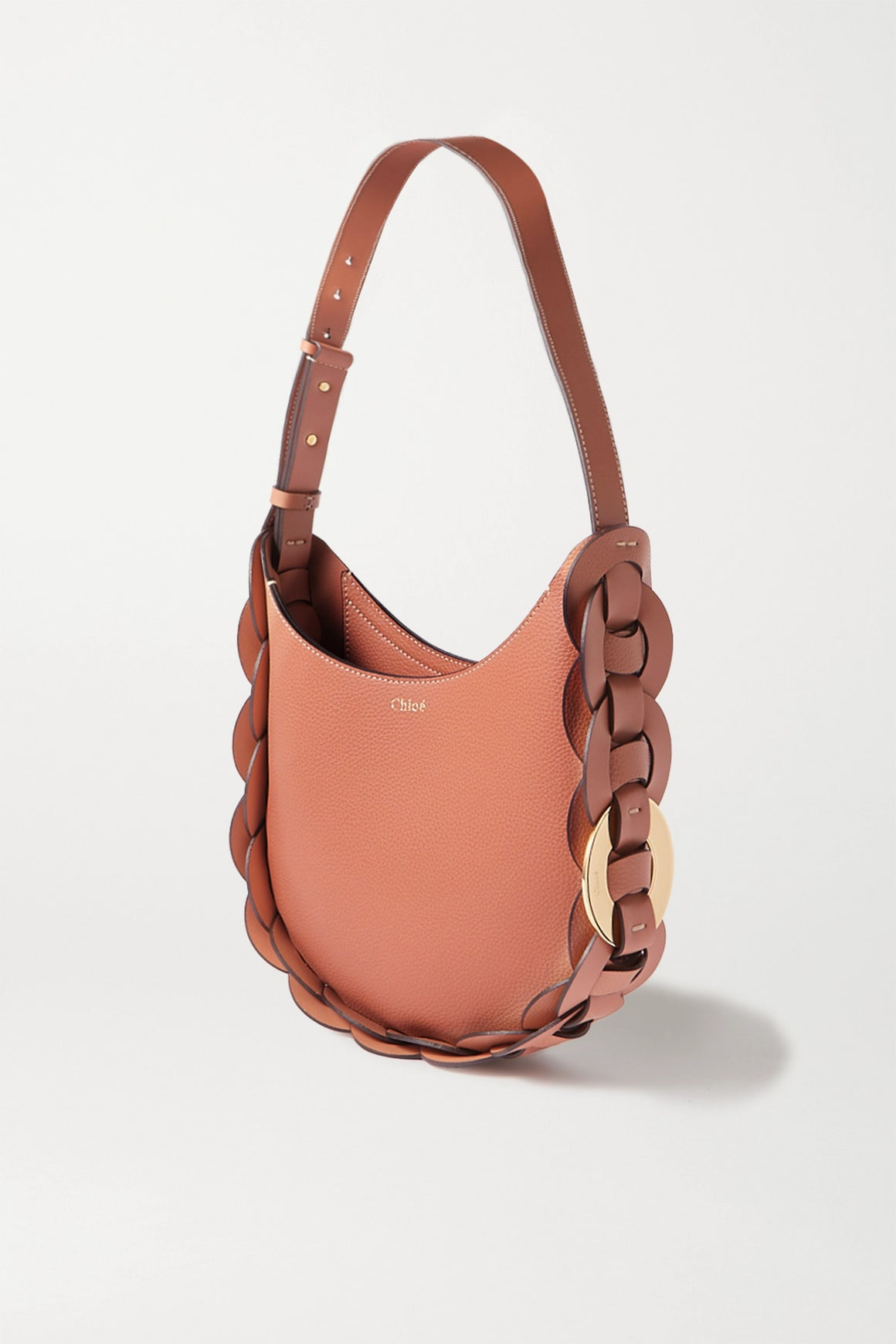 Chloé 'Darryl' Small Braided Textured-Leather Shoulder Bag