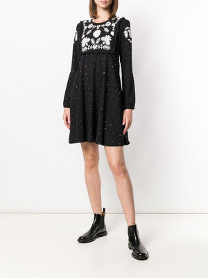 RED Valentino Embroidered Mini Dress