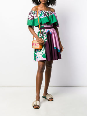 Emilio Pucci Printed Off Shoulder Dress - Current Season