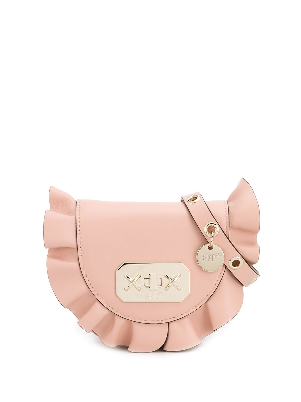 RED Valentino Rock Ruffles Leather Belt Bag