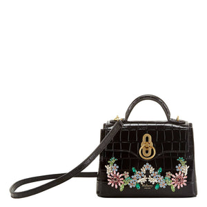 Mulberry Micro Seaton Croc Flower Crystal Bag
