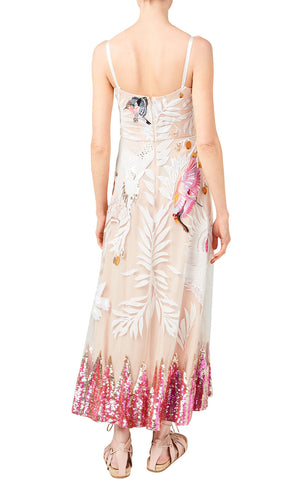 Temperley London Opera Embroidered Strappy Dress (Summer 2019 Runway Collection)