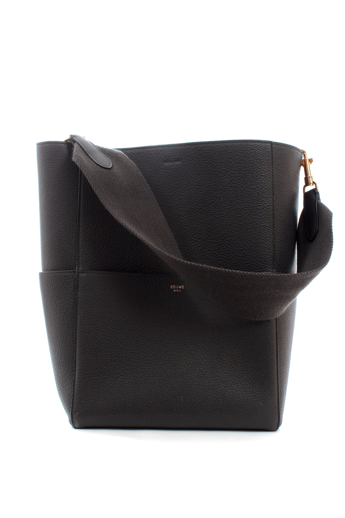Celine Sangle Bucket Bag in Grained Calfskin Leather - Current Season