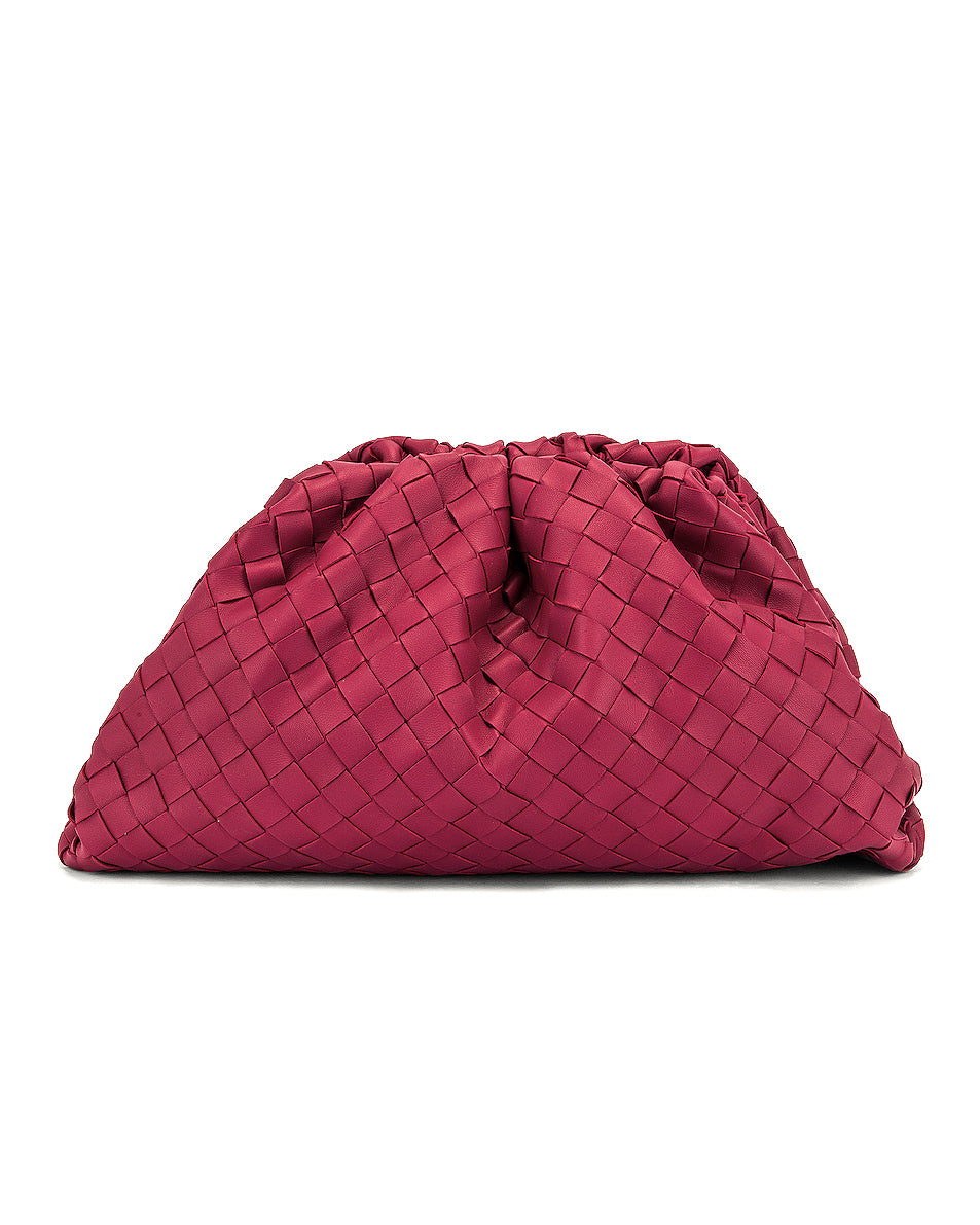 Bottega Veneta The Pouch Large Intrecciato Leather Clutch Bag - Runway Collection