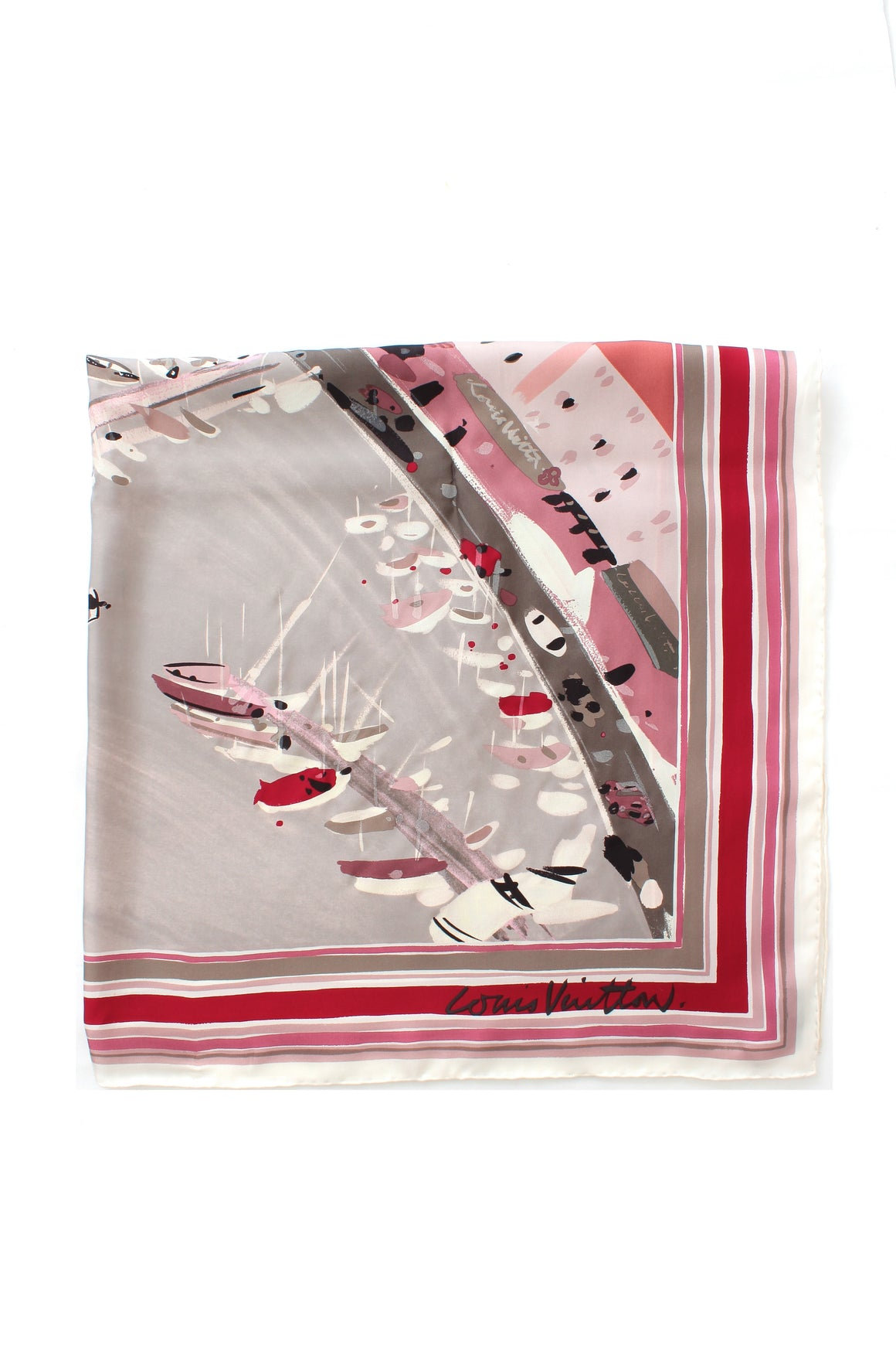 Louis Vuitton Limited Edition Silk Artist Print Scarf