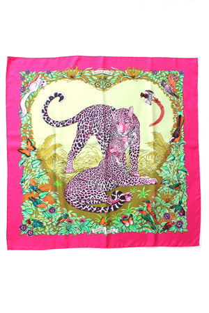 Hermes 'Jungle Love' by Robert Dallet Silk Scarf