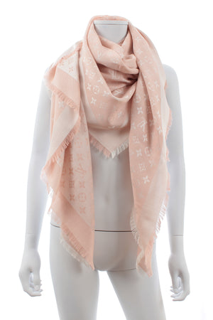 Louis Vuitton Monogram Silk-Wool Shawl